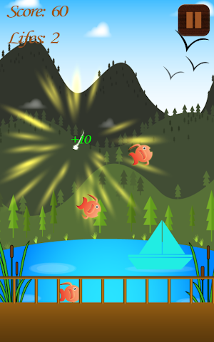 android Hungry Fish Splashy Swipe Game Screenshot 1