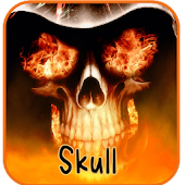 Skeleton Skull Fire