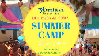 Cartel del Campamento de Verano de Mortimer English Club Almería