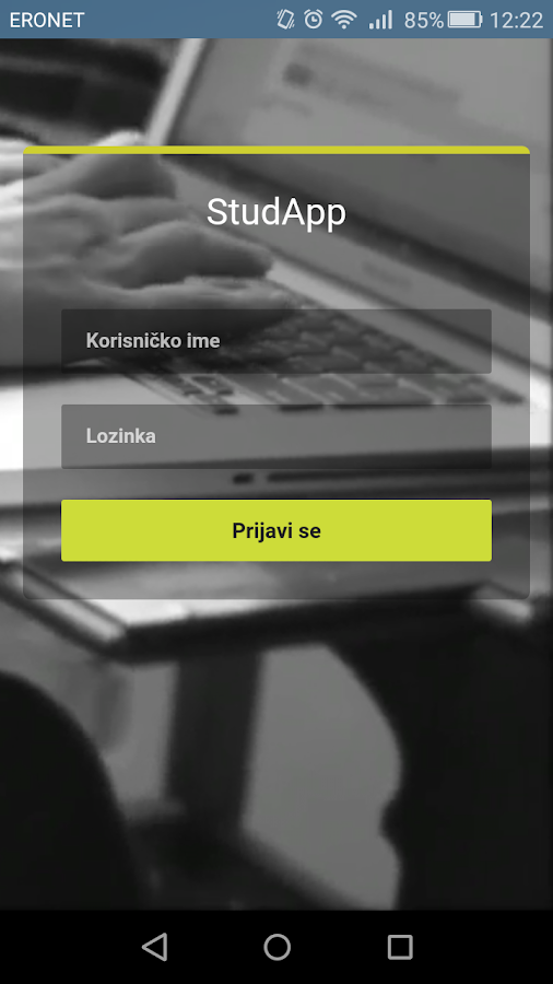 ISS StudApp- screenshot