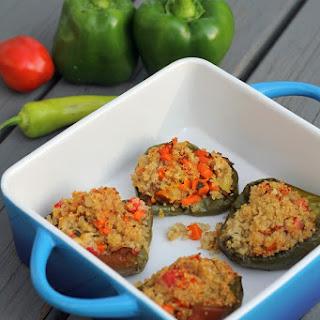 Quinoa & Vegetable Stuffed Bell Peppers.