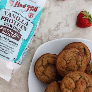 Strawberry Protein Muffins.