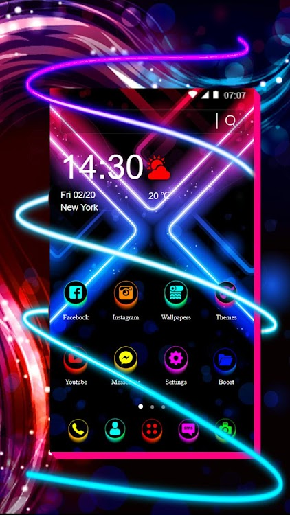 Led Neon Light Themes Live Wallpapers Android Apps