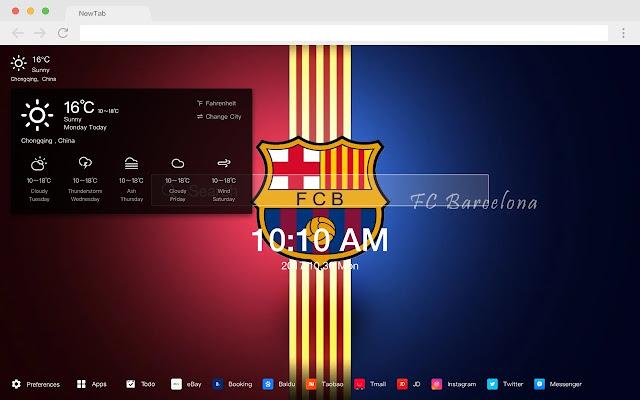 F.C.Barcelona Pop HD Football New Tabs Theme