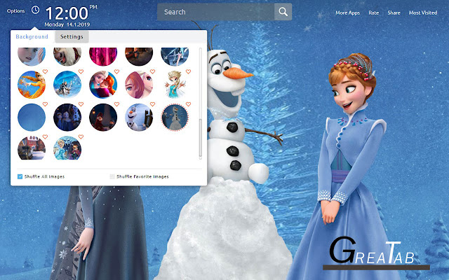 Frozen Wallpapers Frozen Theme|GreaTab