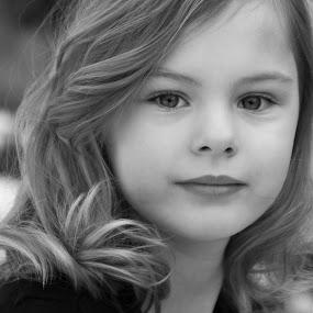 Beautiful Child by Kellie Jones - Black & White Portraits & People (  )