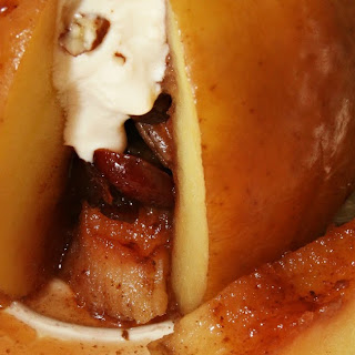 Slow Cooker Low Sugar Pecan and Cranberry Stuffed Apples.