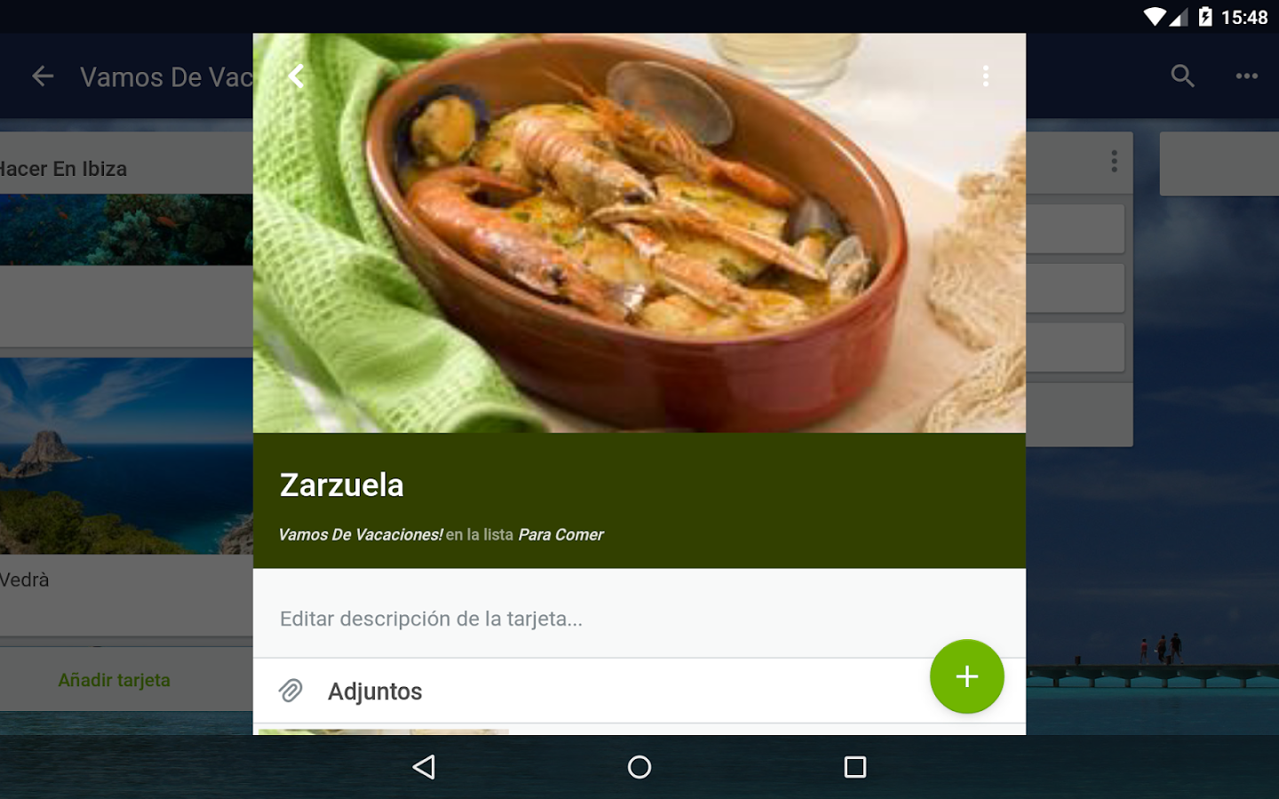 Trello: captura de pantalla