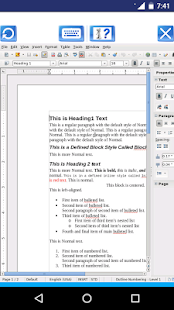 AndroWriter document editor- screenshot thumbnail