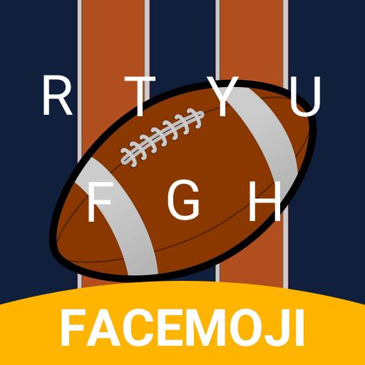 American Football Emoji Keyboard Theme for Broncos