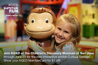 Photo: Join KQED at the Children's Discovery Museum of San Jose through June 23 for the new immersive exhibit Curious George! Show your KQED MemberCard for $1 off! http://ow.ly/mcskB