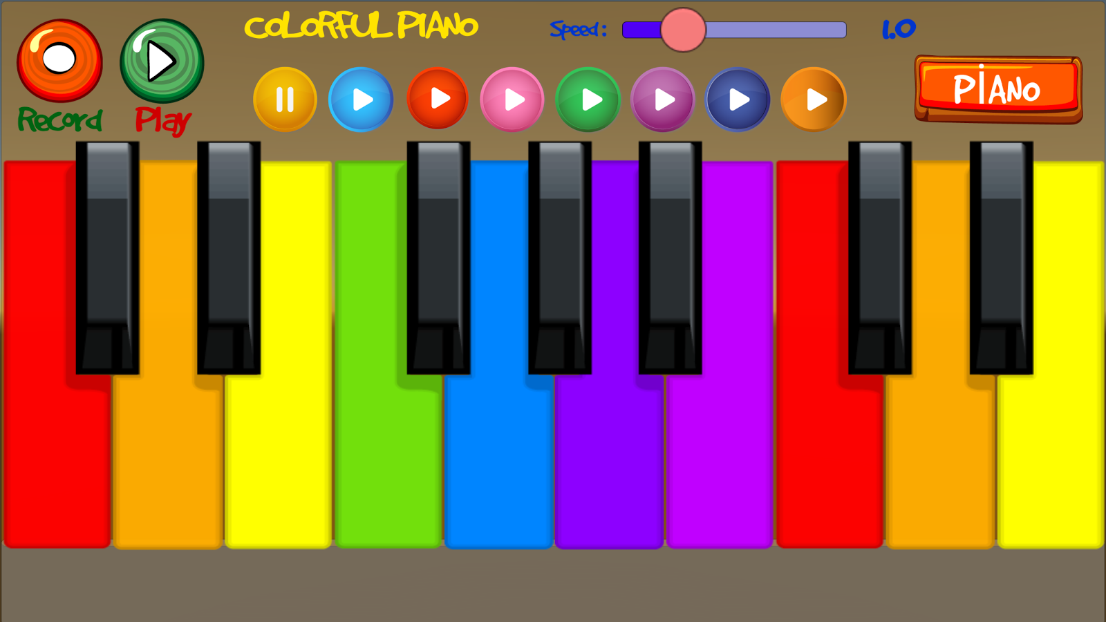 Colorful Piano- screenshot