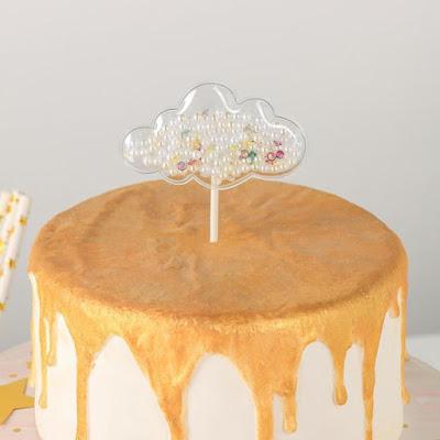 Топпер на торт«Конфетти. облачко», 12×7,5 см