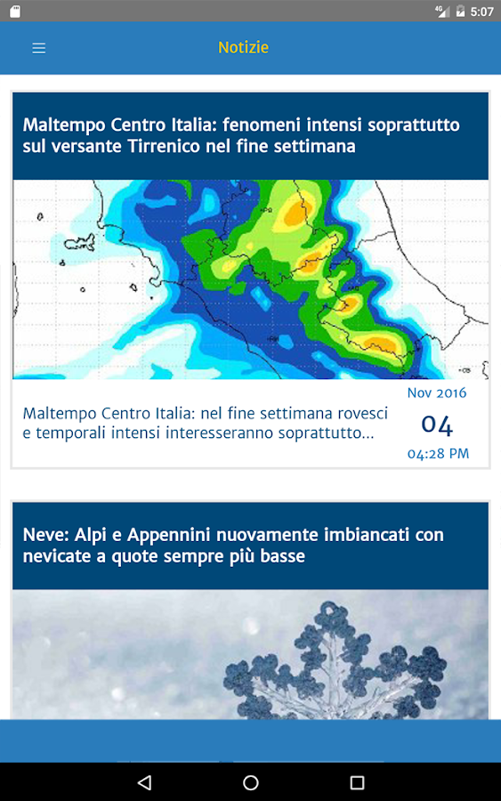 Meteo by Centro Meteo Italiano- screenshot