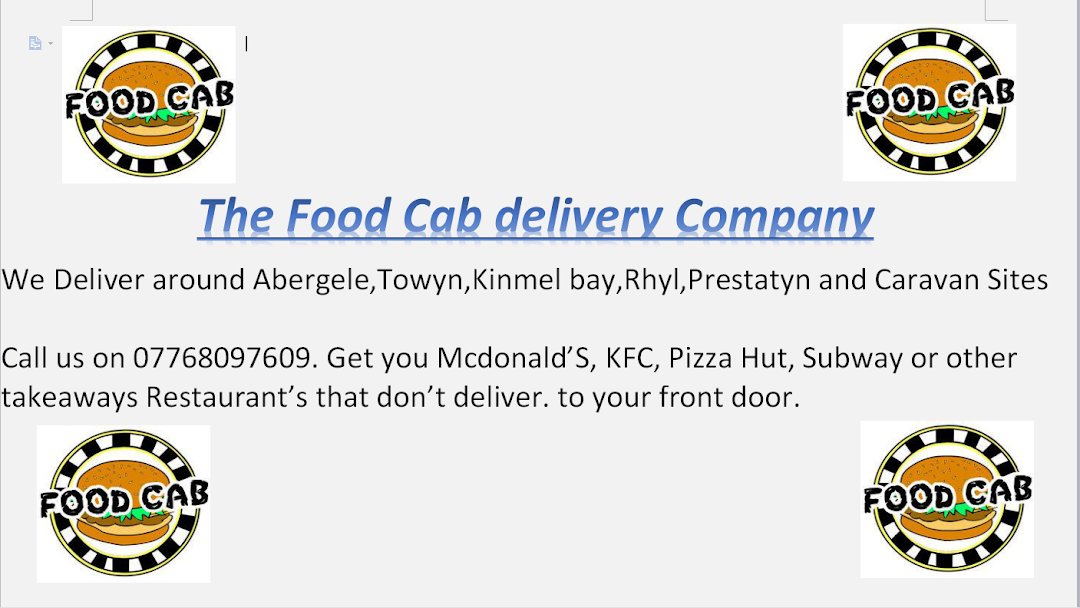 The Food Cab Delivery Company Delivering All Of Your