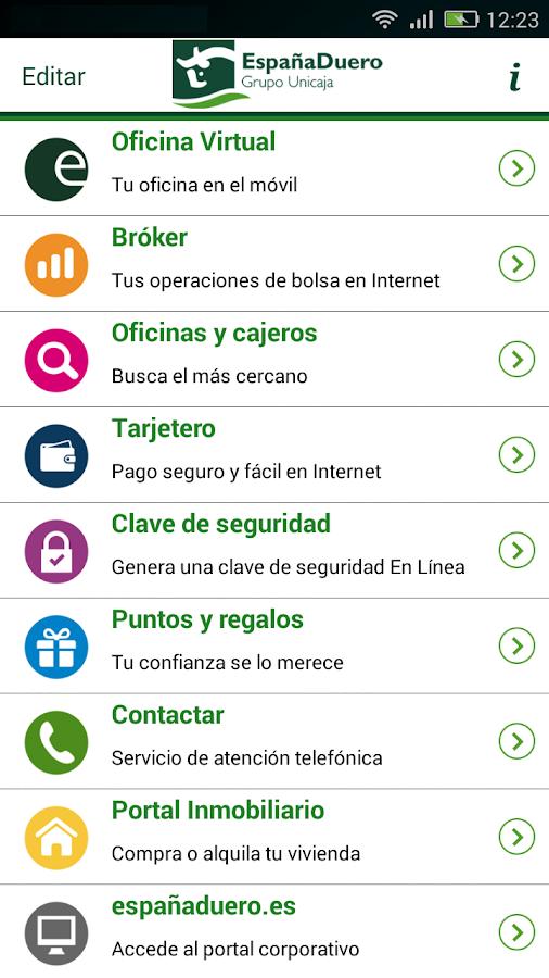 Espa aduero m vil android apps on google play for Horario oficinas unicaja