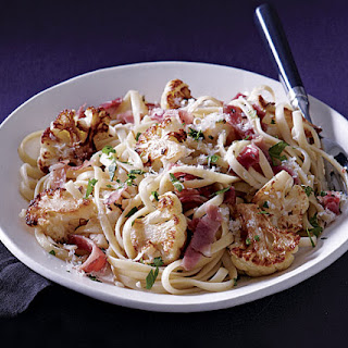 Linguine with Cauliflower and Prosciutto.