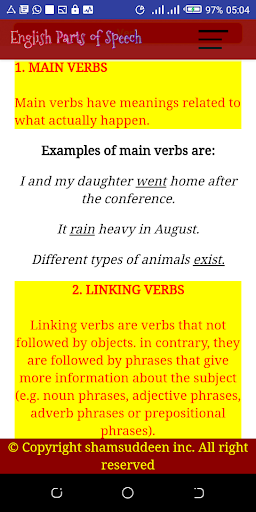 English Parts of Speech with Examples screenshot 2