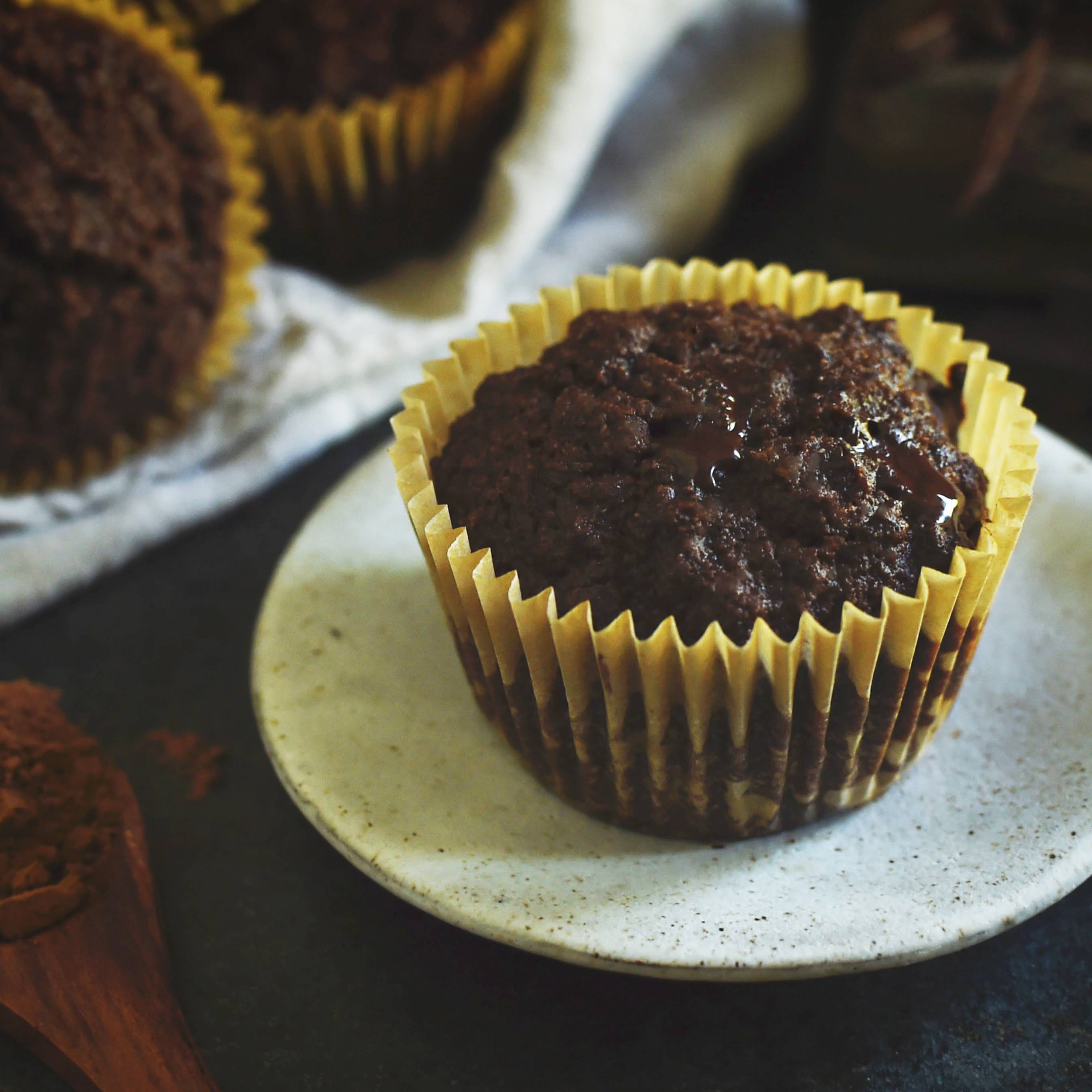 Low-Carb Double Chocolate Muffins