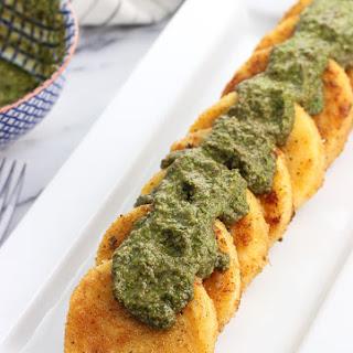 Parmesan Crusted Polenta with Pesto Recipe