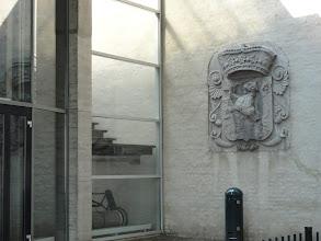 Photo: De leeuw met zwaard en pijlenbundel op het wapenschild