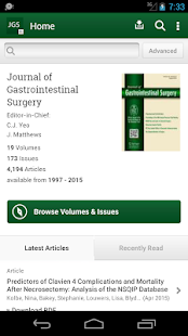 J of Gastrointestinal Surgery- screenshot thumbnail