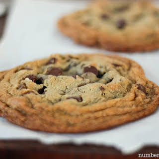 Perfect Single Serving Size Chocolate Chip Cookies.