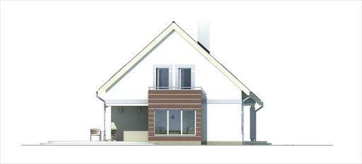 Ada wersja B z pojedynczym garażem - Elewacja lewa