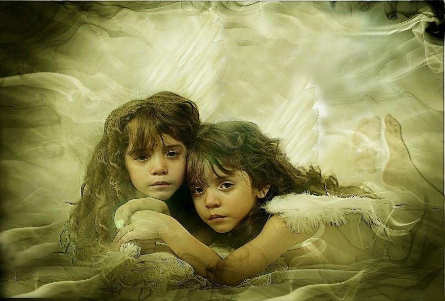 Angels from heaven by Pirjo-Leena Bauer - Babies & Children Child Portraits