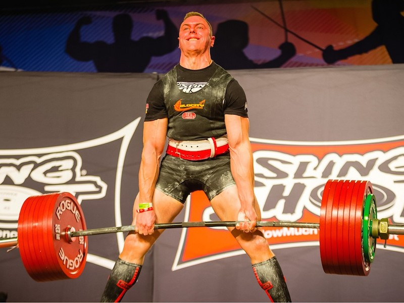 Man Powerlifting