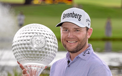Having a ball: Branden Grace took home $1.25m and a trophy for winning the Nedbank Golf Challenge on Sunday. Picture: GORDON ARONS/GALLO IMAGES