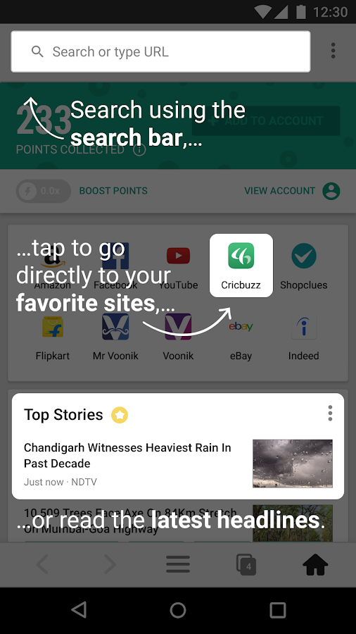 mCent Browser - Recharge Browser- screenshot