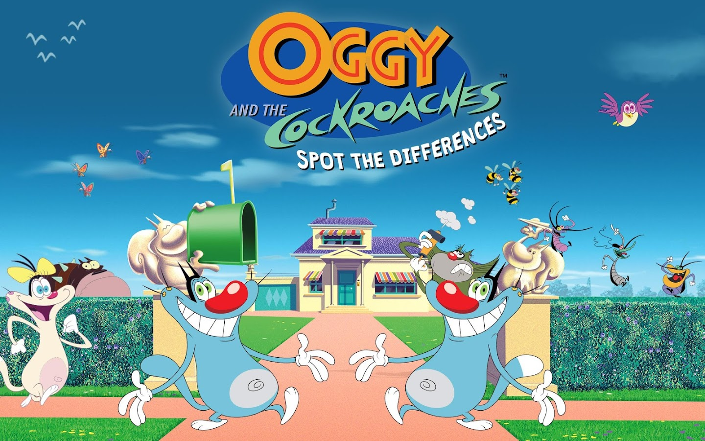 Oggy and the Cockroaches - Spot The Differences- screenshot