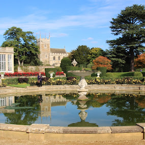 Reflection by Vicki Clemerson - Buildings & Architecture Public & Historical ( reflection, church, autumn, belton house, formal pond, pond, orangery,  )
