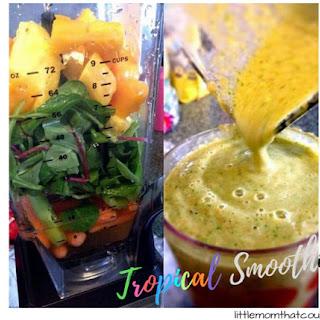 Tropical Island Vegetable Smoothie.