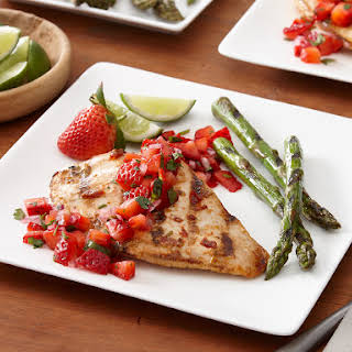 Chipotle Lime Grilled Chicken with Strawberry Salsa.