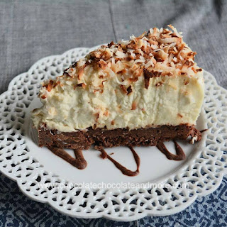 Brownie Bottom Coconut Cream Cheesecake.