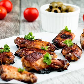 Five Spice Ginger- Soy Glaze Chicken Wings.