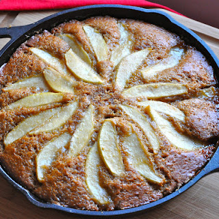 Skillet Pear Gingerbread Cake