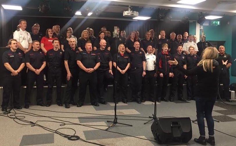 Welshpool premiere for firefighters Xmas single