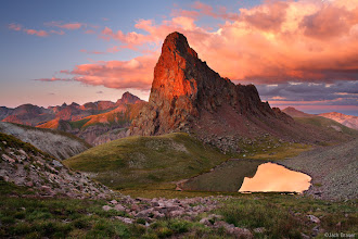 """Photo: Sunset light on a remote peak in the the vast alpine tundra of the Uncompahgre Wilderness (formerly known as the Big Blue Wilderness) of the <a href=""""http://www.widerange.org/gallery/san-juan-mountains/"""">San Juans</a>."""