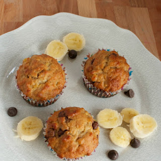Peanut Butter Chocolate Chip Banana Bread Muffins