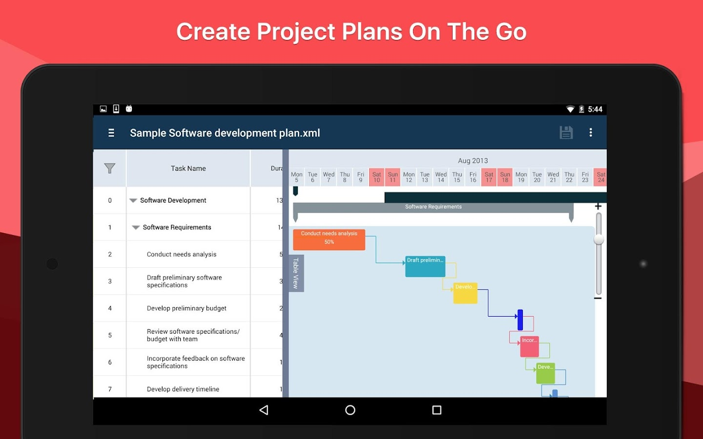 Project Planning Pro- screenshot