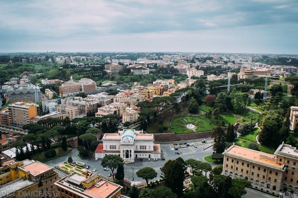 Рим с купола собора святого Петра