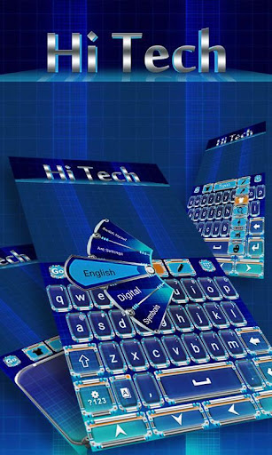 Hi Tech Keyboard Theme Emoji