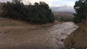 El río Nacimiento a su paso por Abla este miércoles.