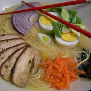 Chicken and Miso Ramen Noodle Soup.