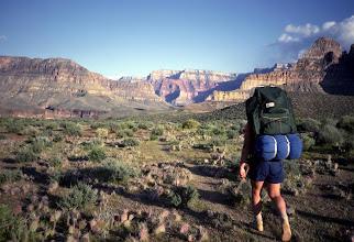 Photo: Backpacker, Grand Canyon National Park, Arizona
