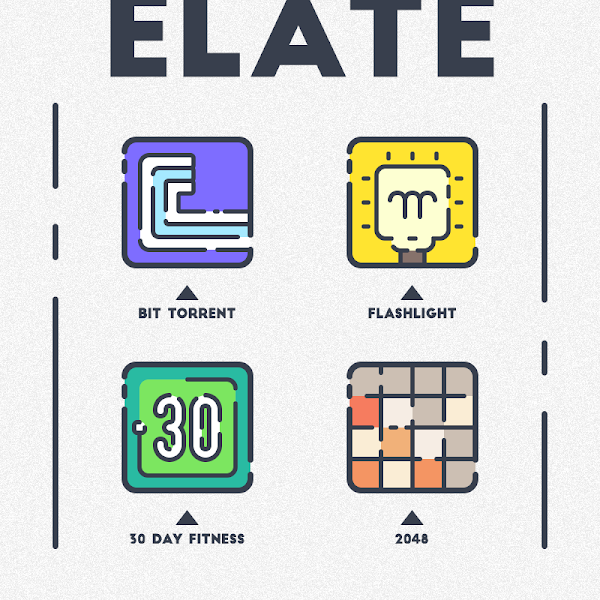 Download APK: ELATE – ICON PACK v1.8 [Patched]