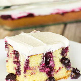 Blueberry Lemon Poke Cake.